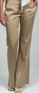 BCBG Maxazaria antique gold slacks size 6
